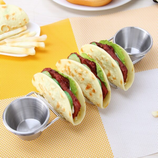 Taco Holders with Dip Bowls