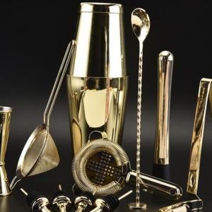 Golden Cocktail Shaker Set (13pc)