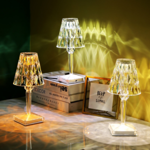 Dining Table Lamps- Crystal (Rechargeable)