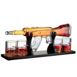 AK47 Gun Decanter (800ml) & 4 Glasses