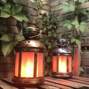 Flame Effect LED Portable Lantern