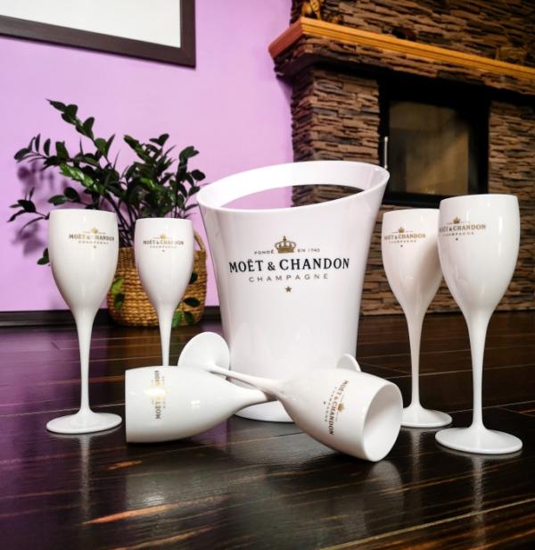 Acrylic Champagne Bucket & Glasses