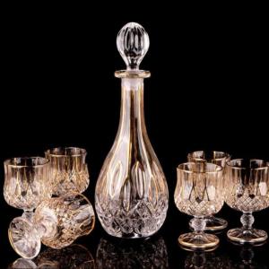 Luxury Crystal Whiskey Decanter Set & 6 Glasses