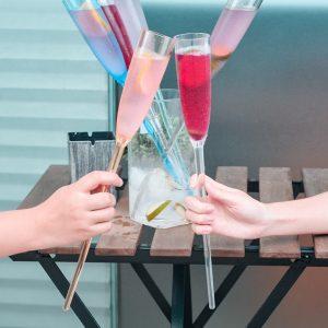 Champagne Flute Set & Bucket (Plastic)