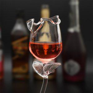 Rose Shaped Dessert Wine Glasses