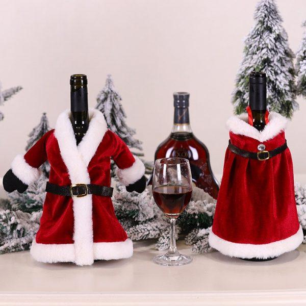 Christmas Wine Bottle Jackets